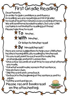 First Grade Reading Log - with letter to parents, ideas for reading at home Reading Homework, Reading Notes, Reading Workshop, Kindergarten Reading, Kindergarten Teachers, Guided Reading, Teaching Reading, Reading Groups, Teaching Ideas
