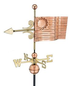 Love this Good Directions New American Flag Polished Copper Weather Vane on zulily today. Great to dress up a garden shed.