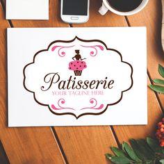 Patisserie Cupcake Premade Logo $100AUD by The Digi Dame, Graphic Designer. Visit The Digi Dame Logo Store www.thedigidame.com