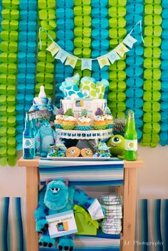 Monsters Inc. Baby Shower Ideas - Pink Ducky