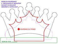 Princess crown template in Spanish Felt Patterns, Applique Patterns, Felt Crafts, Paper Crafts, Diy Crafts, Les Enfants Sages, Sewing Projects, Craft Projects, Crown Template