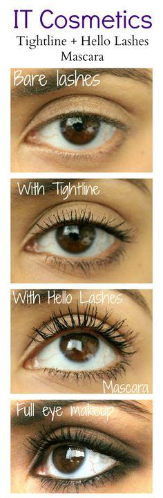 IT Cosmetics Tightline + Hello Lashes Mascara