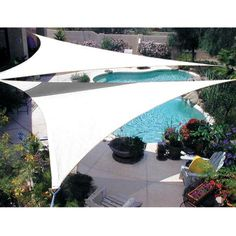 Could be a good (removable) option for some shade in summer. Could even consider them over patio if we don't go with covered patio at this time. Quictent® New x x ft Triangle Sun Sail Shade Canopy Pool Shade, Backyard Shade, Backyard Canopy, Outdoor Shade, Garden Canopy, Patio Shade, Canopy Outdoor, Pergola Shade, Outdoor Decor