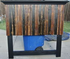 Pallet Headboard Made to Fit a Full and Queen Size Bed