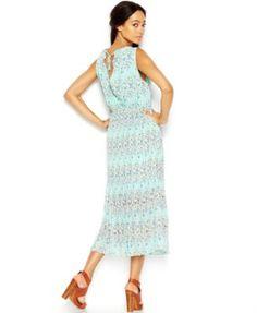 Maison Jules Sleeveless Floral-Print Midi Dress - Dresses - Women - Macy's
