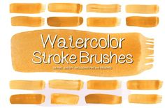 Watercolor Paint Brush Strokes Ver.1 by CreativeWhoa on @creativemarket