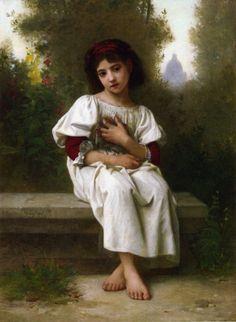 In the Garden-Elizabeth Jane Gardner Bouguereau (1837 – 1922, American)