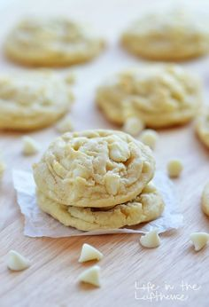 White Chocolate Chip Pudding Cookies