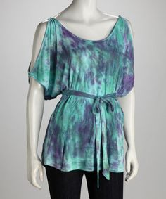 Contemporary Cuts: Leaf Tie-Dye Cutout top - love the colors