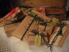 Kauniit nauhat värjätystä niinestä Gift Wrapping, Gifts, Gift Wrapping Paper, Presents, Wrapping Gifts, Favors, Gift Packaging, Gift