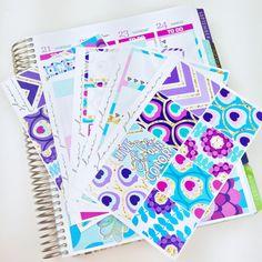 Peacock Sticker Kit (Glam Planner Stickers for Erin Condren Life Planner)