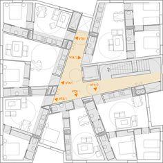 Soler Agatangelo Montellano / Architect #arquitectura #dibujos #plantas #vivienda colectiva #viviendas