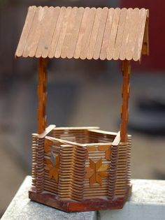 47 popsicle stick well http://hative.com/homemade-popsicle-stick-crafts/