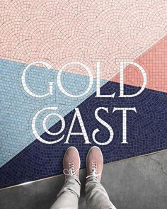 Amazing typography in this mosaic floor design with Art Deco style vintage type