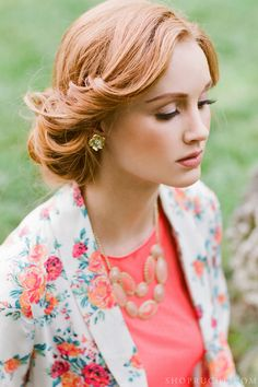 Flawless hair and florals.