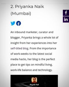Yay! Featured among top 20 Micro Influencers in India!  #influencer #microinfluencer #seo #sem #contentcuration #blogging #socialmedia #digitalmarketing #inboundmarketing #technology #hacks Inbound Marketing, Digital Marketing, Technology Hacks, Seo Sem, Mindful Living, Insight, Blogging, Self, Mindfulness