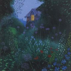 Nicholas Hely Hutchinson (b.1955) — Garden at Night (593x589)