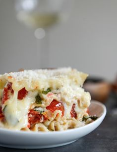 White Pizza Lasagna - wonder if I could make this healthier...?