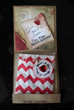 Valentine Gift- Match Book Opened, perfect for a gift card