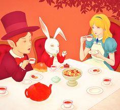 #Alice in wonderland #illustration #イラストレーション