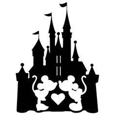 Disney inspired Kissing Mickey Minnie Castle waterproof vinyl decal sticker car tablet glass tumbler Yeti gift multi sizes and colors – car stickers Disney Stencils, Disney Decals, Disney Fonts, Disney Home, Disney Art, 3d Zeichenstift, Arte Do Mickey Mouse, Disney Cups, Pinturas Disney