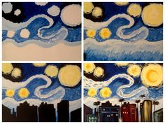"Evolution of ""South Beach Starry Night"" painted @ Painting with a Twist-Miami"