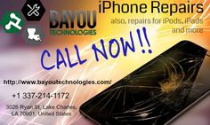 If your iPhone needs repair? Bayou Technologies can fix it! Cracked screen, broken LCD, bad battery and more.Same Day iPhone & iPad Repair Service - 100% Guaranteed - Call Now! +1 337-214-1172.