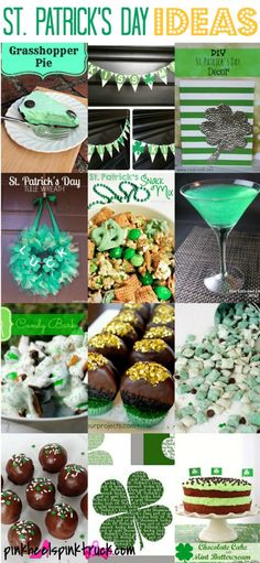 St. Patrick's Day Ideas: Food, Crafts, Decor, Printables & More! via http://pinkheelspinktruck.com/st-patricks-day-ideas-food-crafts-decor/