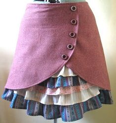 Rapunzel steampunk skirt ruffle layer skirt different colors but still cool enough for sp Steampunk Costume, Steampunk Fashion, Steampunk Skirt, Sewing Clothes, Diy Clothes, Pretty Outfits, Cool Outfits, Pretty Clothes, Everyday Steampunk
