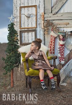 Fashionkins :: Babiekins Magazine Christmas Editorial- Cute set up for pictures
