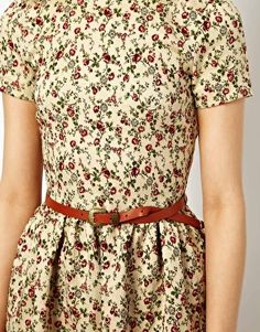 Enlarge River Island Ditsy Floral Jacquard Dress