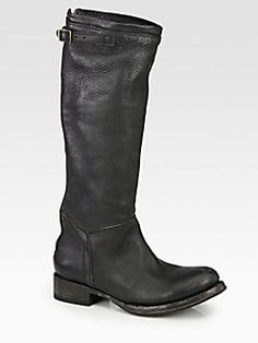 Ash - Leather Buckle Knee-High Boots