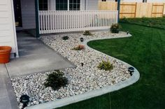 This is what I'm thinking for landscaping... Only adding a few larger boulders and a few less plants.