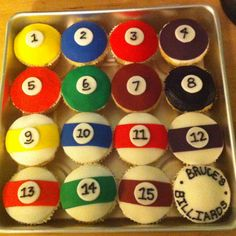Billiards cupcakes I made for my dad's birthday! :)