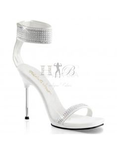 Fabulicious Sexy Shoes 4 Inch Stiletto Heel Ankle Strap Mini-Platforms Sandalswith Rhinestone - Miss Hollywood - 1 Clear High Heels, Sexy High Heels, High Heels Stilettos, Stiletto Heels, Shoes Heels, Sandal Heels, White Sandals, Ankle Strap Sandals, White Shoes