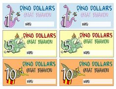 Kids Dinosaur Behavior Bucks