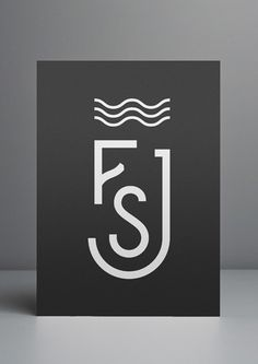 Create a modern monogram for your wedding invite or save the date.