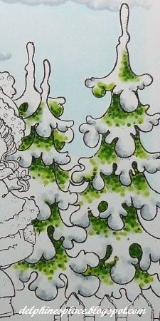 Delphine's place: Tutorial - Colouring Winter Trees with Copics