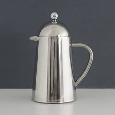 Cafetiere Coffee, Cafetiere Stainless Steel, ProCook Double Walled Stainless Steel Cafetiere, Conical 6 Cup / 600ml, regular1