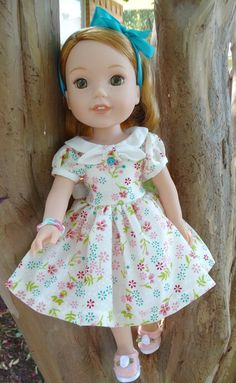 14.5 Doll ClothesHistorical 1950's Style Dress by Designed4Dolls
