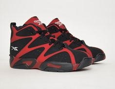 #Reebok Kamikaze I Black/Red #sneakers
