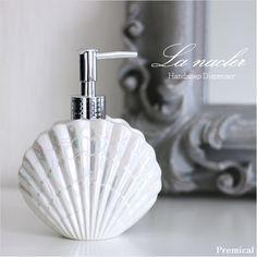 ラナクレル(液体ハンドソープディスペンサー)シェル,貝殻ホワイト