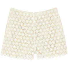 PAUL & JOE SISTER Gold Shorts ($130) ❤ liked on Polyvore featuring shorts, bottoms, ecru, floral shorts, flower print shorts, floral print shorts, gold shorts and boho shorts