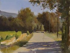 Julien Merrow Smith  daily painting titled Route vers les Baux - click for enlargement