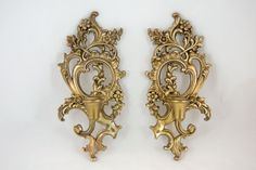 Vintage 1950s Syroco Wood Gold  Wall Decor by MorningGloryModerne, $24.99