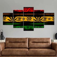Cannabis Reggae Multi Panel Canvas Wall Art is a beautiful addition to any decor style. Bring this stunning canvas print into your home to give it an immediate refresh and new style. Print Artist, Artist Canvas, Artist Painting, Artist Art, African Logo, Rasta Art, Reggae Art, Alternative Artists, Canvas Wall Art