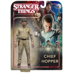 Stranger Things Chief Hopper Action Figure by McFarlane Toys Stranger Things Chief Hopper, Demogorgon Stranger Things, Storm Shadow, Netflix Tv, Thing 1, Iconic Characters, Sideshow Collectibles, Disney Toys, Toy Store