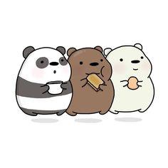 Tag 2 people you love to eat with ♥️☺️ We Bare Bears Wallpapers, Panda Wallpapers, Cute Cartoon Wallpapers, Cute Little Drawings, Cute Animal Drawings, Cute Drawings, Ice Bear We Bare Bears, We Bear, Cute Panda Wallpaper