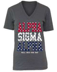 Alpha Sigma Alpha Red White and Blue