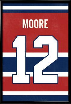 0695fd25d76c Dickie Moore Number 12 Montreal Canadiens Jersey Art Print